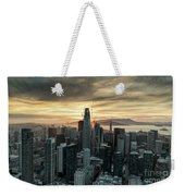 San Francisco City Skyline At Sunset Aerial Weekender Tote Bag