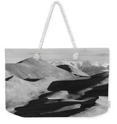 Monochrome Sand Dunes And Rocky Mountains Panorama Weekender Tote Bag