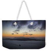 Santorini Caldera Sunset Weekender Tote Bag