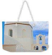 Santorini Church Dome Weekender Tote Bag