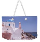Santorini Oia Blue Domed Church Weekender Tote Bag