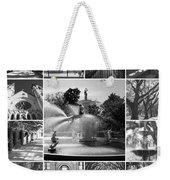 Savannah Collage Black And White Weekender Tote Bag