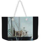 Scallop Boat Weekender Tote Bag