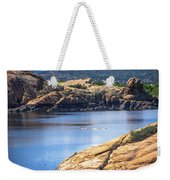 Scenic Willow Lake  Weekender Tote Bag