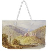 Schloss Stolzenfels From The Banks Of The Lahn Weekender Tote Bag