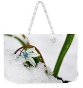Scilla On Snow Weekender Tote Bag