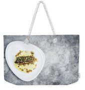 Sea Bass Fish With Mexican Salsa Sauce Weekender Tote Bag