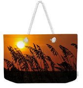 Sea Oats At Sunset Weekender Tote Bag