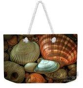 Sea Pebbles With Shells Weekender Tote Bag