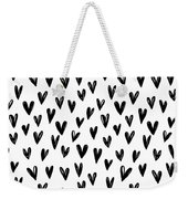 Seamless Pattern With Hand Drawn Hearts.  Weekender Tote Bag