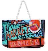 Seattle Public Market Weekender Tote Bag