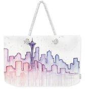 Seattle Skyline Watercolor Weekender Tote Bag