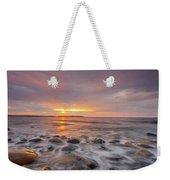 Seawall Sunrise Weekender Tote Bag