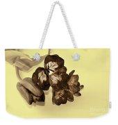 Sepia Flowers Weekender Tote Bag