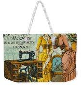 Sewing Machine Ad, C1880 Weekender Tote Bag by Granger