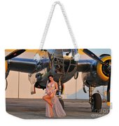 Sexy 1940s Pin-up Girl In Lingerie Weekender Tote Bag