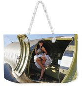 Sexy 1940s Style Pin-up Girl Standing Weekender Tote Bag