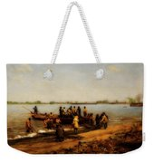 Shad Fishing On The Delaware River Weekender Tote Bag