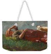 Shepherd Girl Resting Weekender Tote Bag