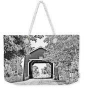 Shimanek Covered Bridge -surreal Bw Weekender Tote Bag