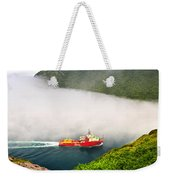 Ship Entering The Narrows Of St John's Weekender Tote Bag