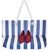 Shoes In A Beach Chair Weekender Tote Bag
