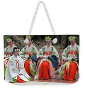 Shrine Maidens From Tsurugaoka Hachimangu Shrine Weekender Tote Bag