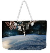Shuttle Docked At Space Station Weekender Tote Bag