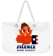 Silence Means Security Weekender Tote Bag