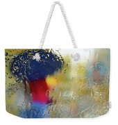 Silhouette In The Rain Weekender Tote Bag