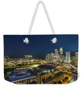 Singapore Cityscape At Night Weekender Tote Bag