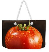 Single Fresh Tomato With Dew Drops Weekender Tote Bag