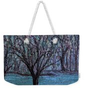 Single Tree On The Grand River Weekender Tote Bag