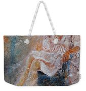 Sitting Young Girl Weekender Tote Bag
