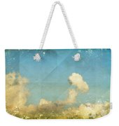 Sky And Cloud On Old Grunge Paper Weekender Tote Bag by Setsiri Silapasuwanchai