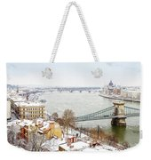 skyline  of  Budapest, Hungary Weekender Tote Bag
