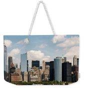 Skyline Of New York City - Lower Manhattan Weekender Tote Bag