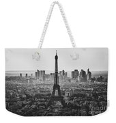 Skyline Of Paris In Black And White Weekender Tote Bag
