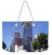 skyscraper construction in Downtown Los Angeles... Weekender Tote Bag