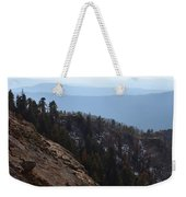 Smoky Evening Vista Over Kings Canyon Weekender Tote Bag