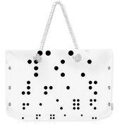 Snellen Chart - Braille Weekender Tote Bag
