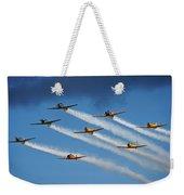 Snj  T-6 Texan And Canadian Harvard Aerobatic Team Weekender Tote Bag