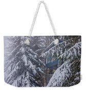 Snow Covered Trees In The North Carolina Mountains During Winter Weekender Tote Bag