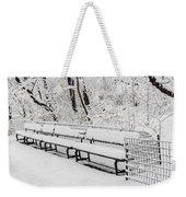 Snow In Central Park Nyc Weekender Tote Bag