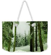 Snow In The Forest Weekender Tote Bag