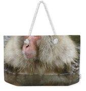 Snow Monkey Bath Weekender Tote Bag