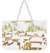 Snow Town Weekender Tote Bag