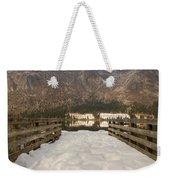 Snowy Alpine Lake Weekender Tote Bag