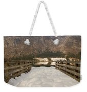 Snowy Alpine Lake Weekender Tote Bag
