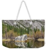 Some Beautiful Scene Of The Famous Mirror Lake Of Yosemite Weekender Tote Bag